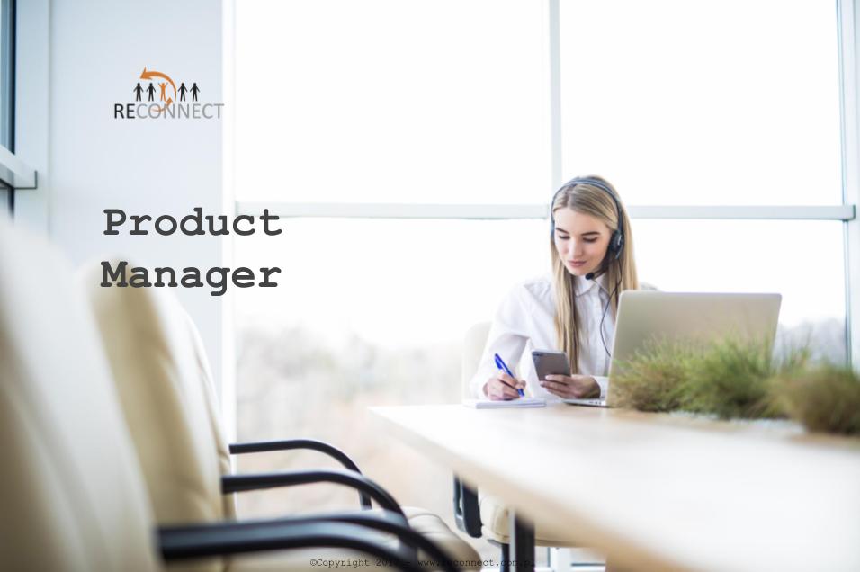 4838cc1926 Product Manager – RECONNECT – Agencja Doradztwa Personalnego – Praca w IT